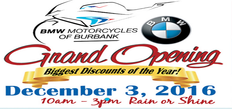 bmw motorcycles of burbank grand opening party - left coast riders now