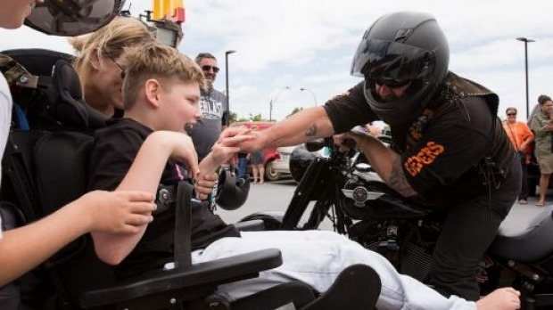 motorcycle, cerebral palsy, safety, happiness